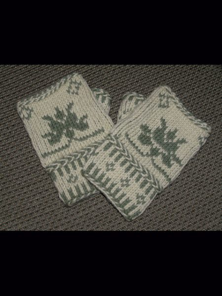 Color Twined Fingerless Mitts