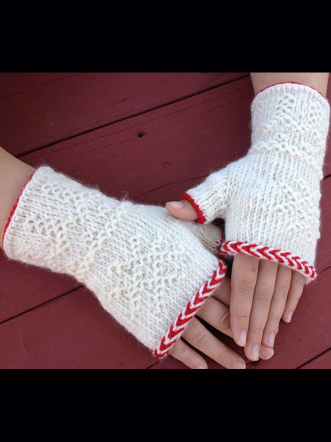 Twined Fingerless Mitts