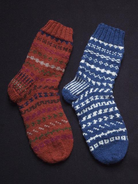 Autumn Fair Isle Socks