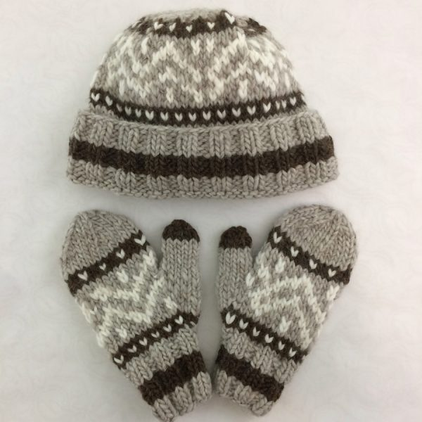 3084970dc98 Cowichan-Inspired Hats   Mittens Kit (M